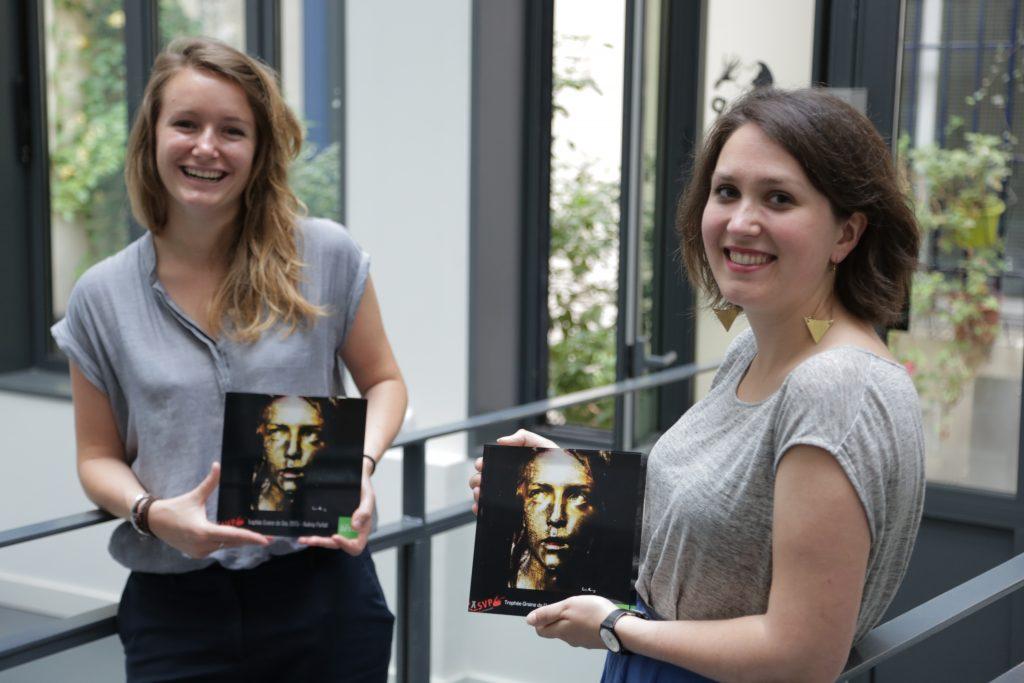 Audrey Parfait, lauréate 2015 et Aliénor Carrière, lauréate 2016