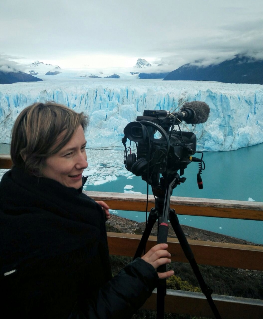 Hélène Maucourant, réalisatrice, en Patagonie