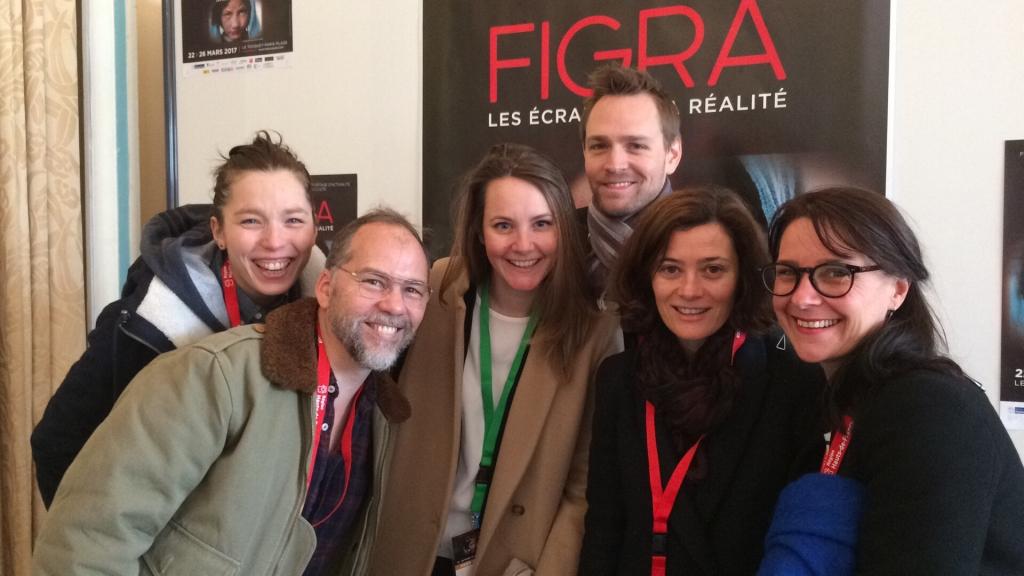 de gauche à droite, Ksenia Bolchakova, Christophe Brulé, Alexandra Jousset, Aymeric Guyot, Christie Molia, Agnès Molia