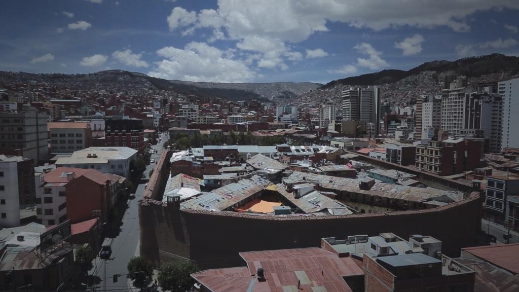 La prison de la Paz où il était détenu