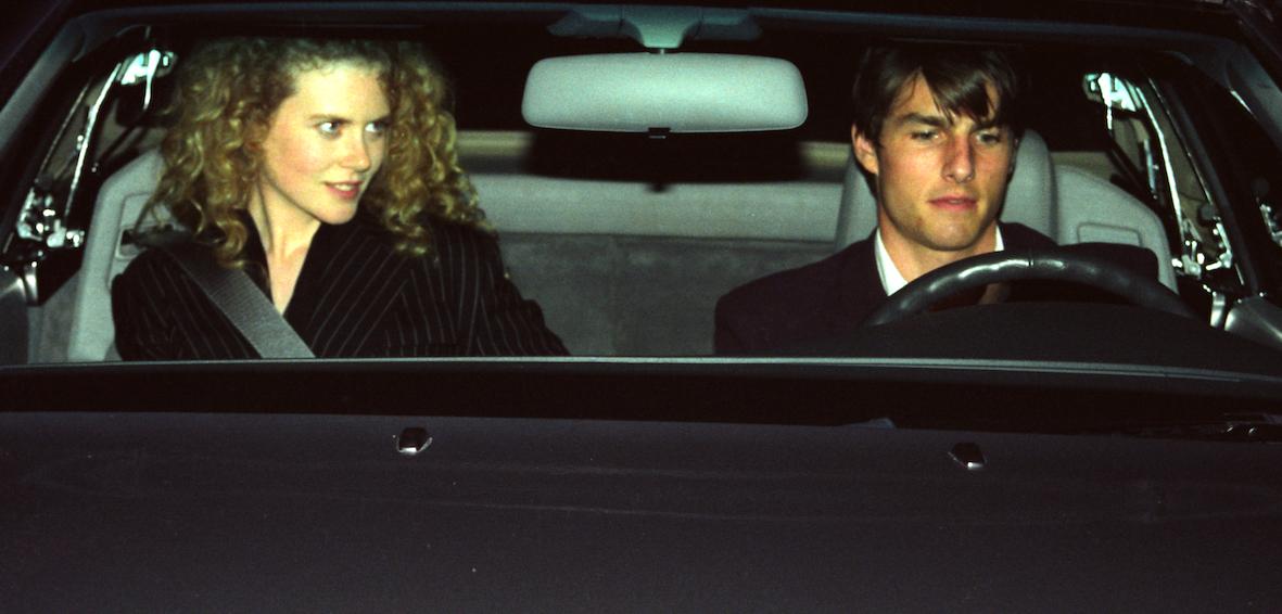 Los Angeles - 8 Décembre 1992: Tom Cruise et sa femme Nicole Kidman sortent d'un cinéma à Westwood.