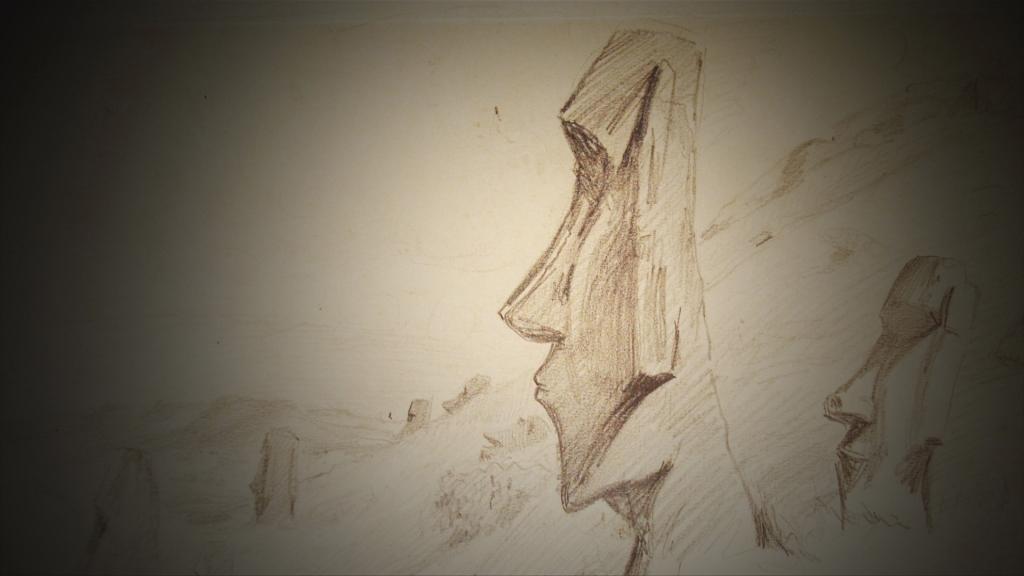 Le film montre des dessins de Pierre Loti